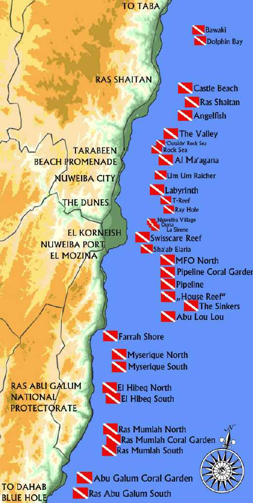 nuweiba-diving-map